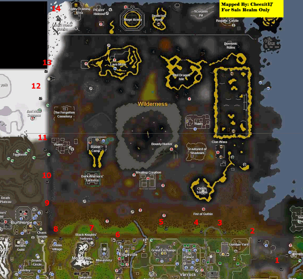 A map of the All Fired Up beacon locations
