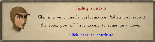 Agility assistant: This is a very simple performance.