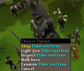 Chop Elder evil tree