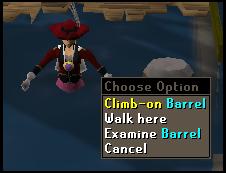 Climb-on barrel