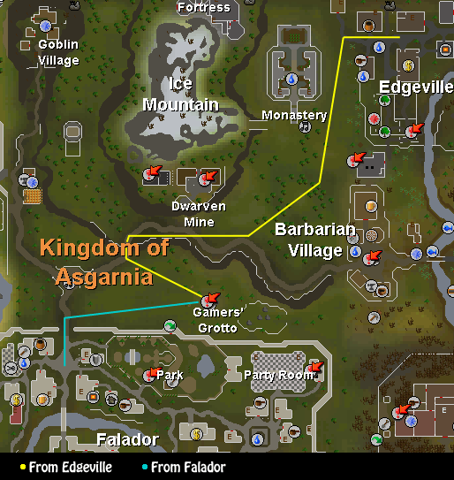 Routes to the Fist of Guthix Activity