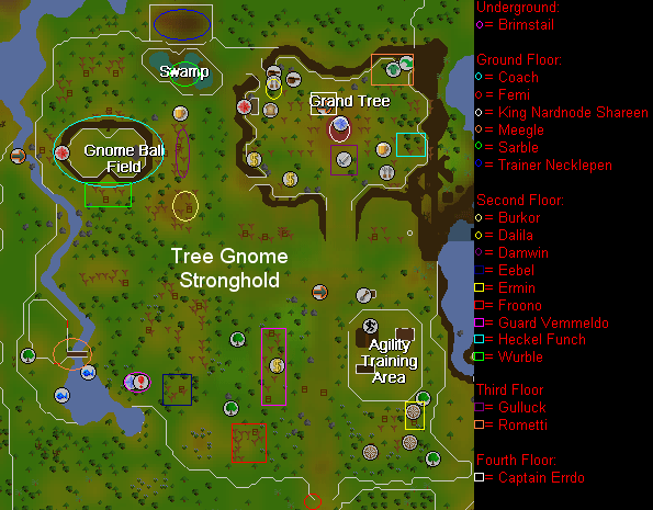 Map of Easy Locations