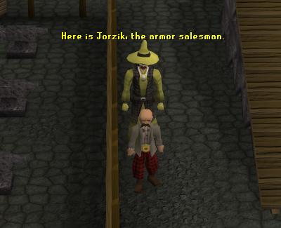 Jorzik sells and buys armor