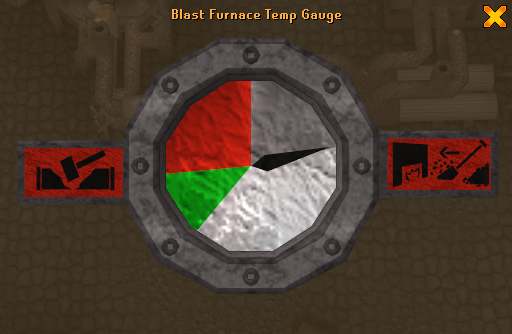 The temperature gauge helps to let players know what to do.