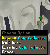 Deposit Coin Collector