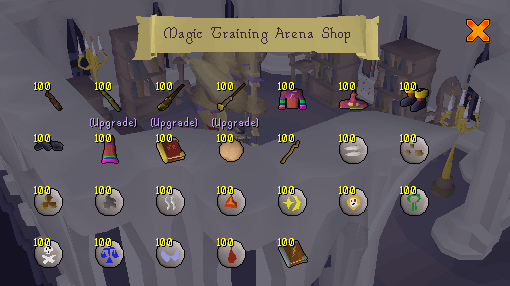 Mage Training Arena Shop