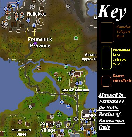 Routes to miscellania