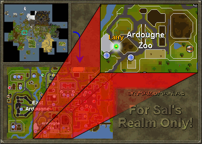 Map of the ardougne zoo