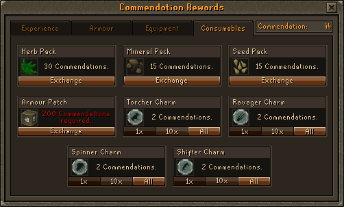 Consumables Option