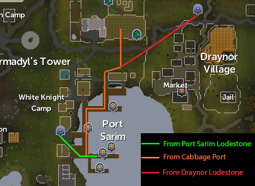 Routes to Port Sarim