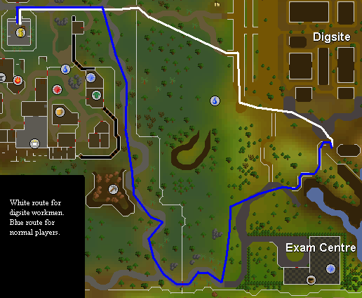 Map from Varrock to the barrels