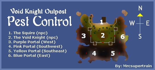 A map of the pest control minigame