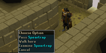 Be creful of speartraps!