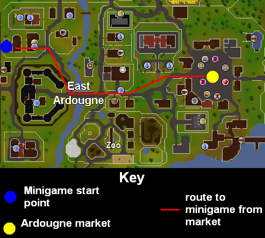 Entrance to the minigame
