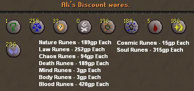 Ali's discount wares