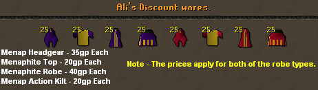 Ali's discount wares [menaphite clothes]