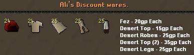 Ali's discount wares [Fez, Desert clothes]
