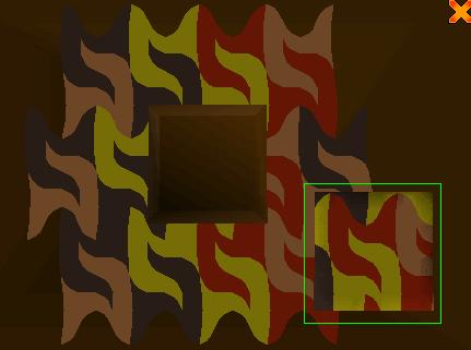 A mosaic door puzzle