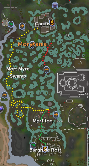 Map to Mort'ton