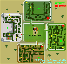 A map of the entire garden