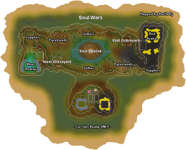 Map of the Soul Wars battlefield