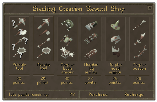 Stealing Creation Reward Shop