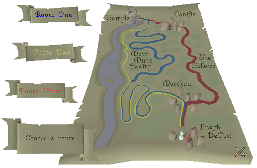 Routes to the Paterdomus Temple