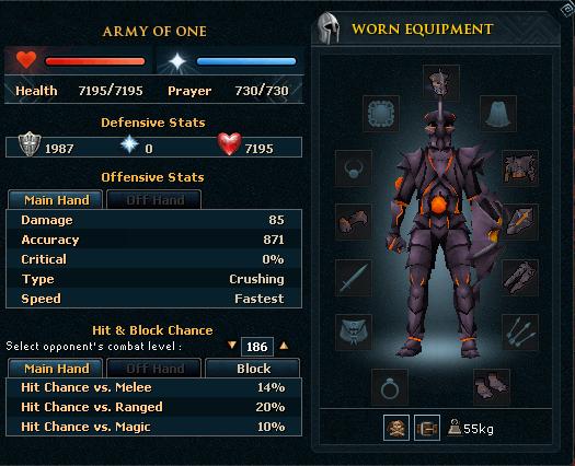 Obsidian ranged armour