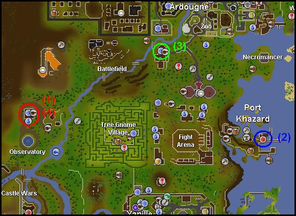 Map of item Locations