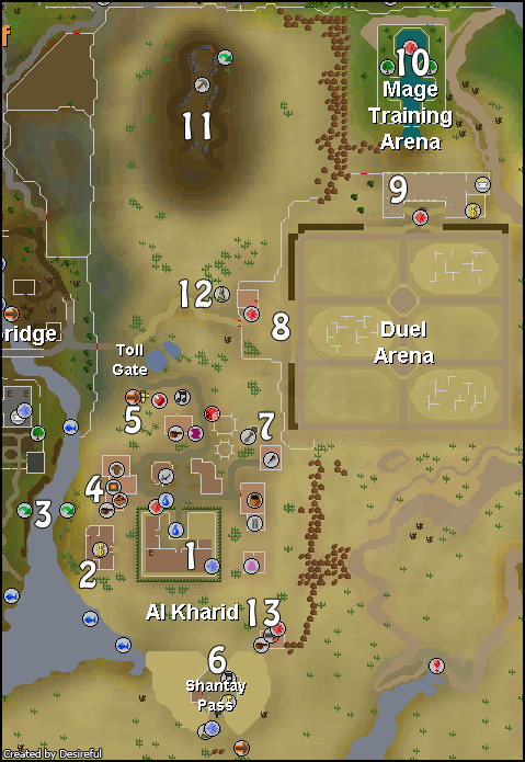 A map of Al Kharid
