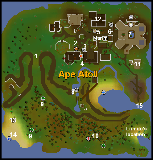 A map of ape atoll