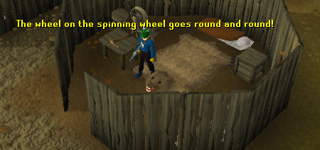 A spinning wheel