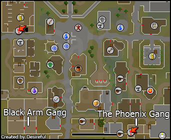 A map to the gang hideouts