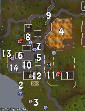 A map of Draynor Village