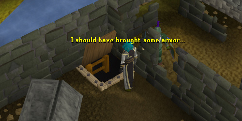 The entrance to Edgeville Dungeon