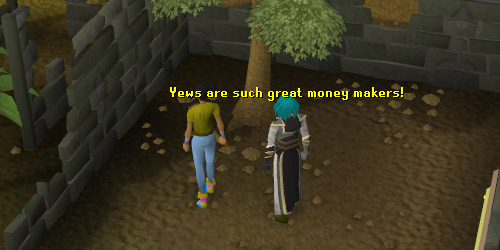 Yew Trees in Edgeville