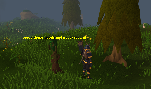 Chopping a tree causes multiple tree spirits to attack you
