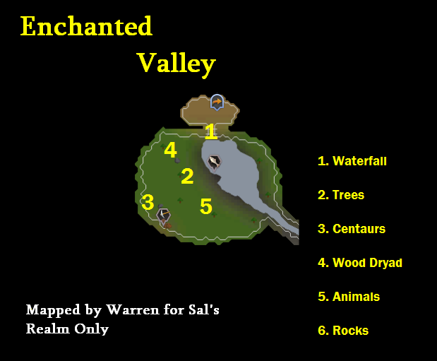 A map of the Enchanted Valley