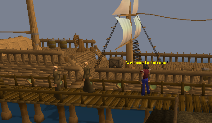 The entrana dock - where you'll be dropped off by the boat