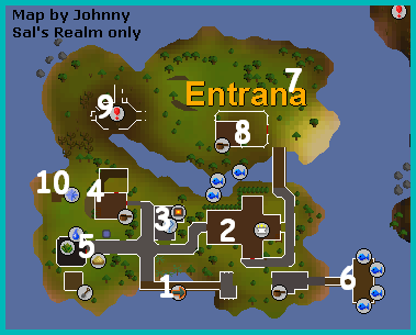 A map of entrana