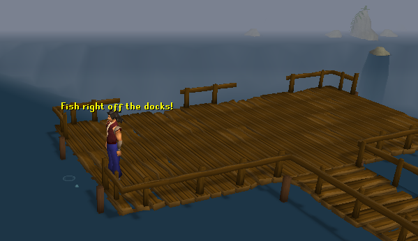 A dock, perfect for fishing!