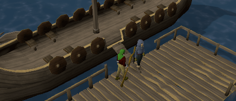 Arriving on the Miscellania dock