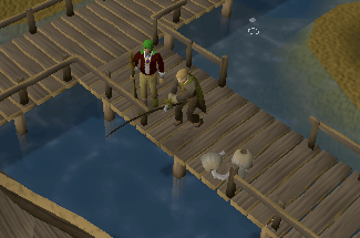 Fishing at the Miscellania dock