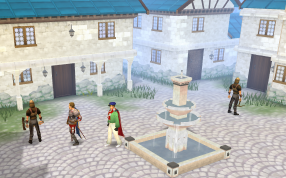 Center of the houses - a common place for treasure trail clues
