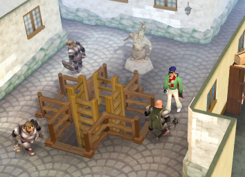 The entrance to the Mining Guild