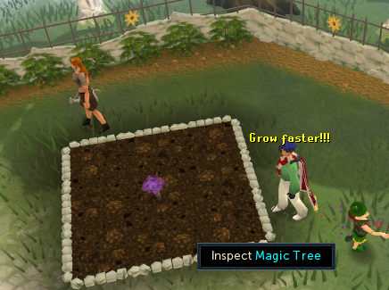 A farming patch for regular trees