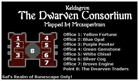 A map of the dwarven consortium