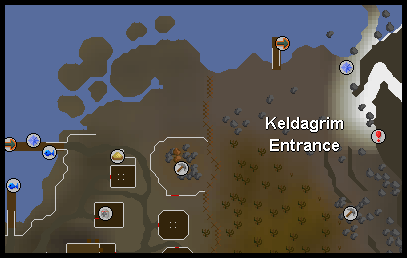 A map of the entrance to the keldagrim caves
