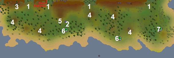 A map of Kharazi Jungle