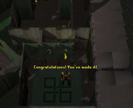 Congratulations, you've made it to the hideout!